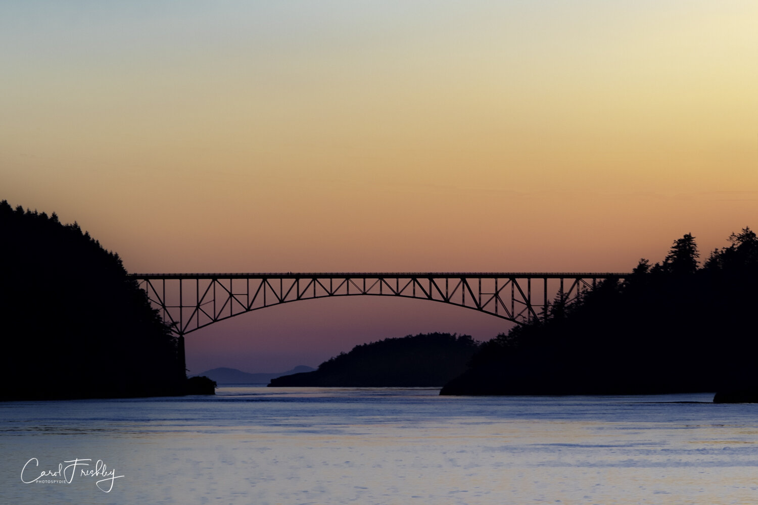 Deception Pass at sunset.