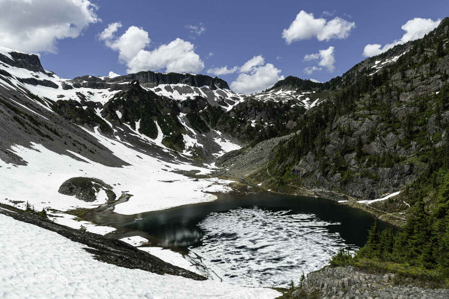One of the lakes along Chain of Lakes Trail which goes through Heather Meadows