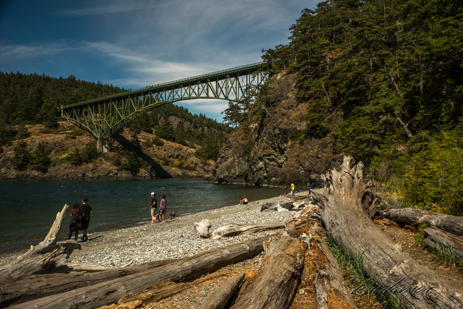 Deception Pass Bridge which links Fidalgo Island to Whidby Island