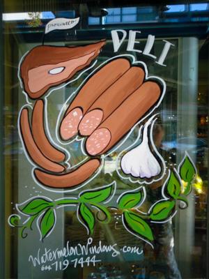Window Painting for Casa Del Pane Deli & Bakery, Port Coquitlam