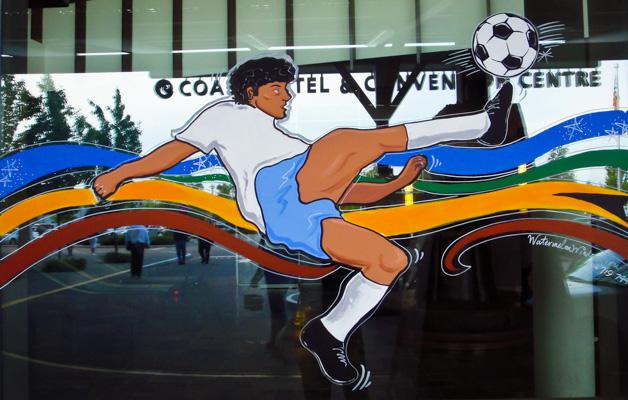 Window Painting for Cascades Casino Resort/Coast Hotels, Langley