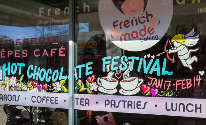 Window Painting for French Made Baking, Vancouver