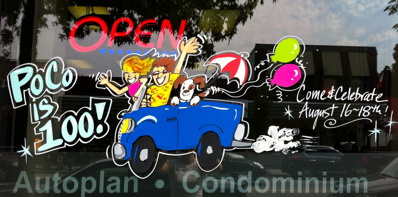 Window Painting for Insurance Agency, Port Coquitlam