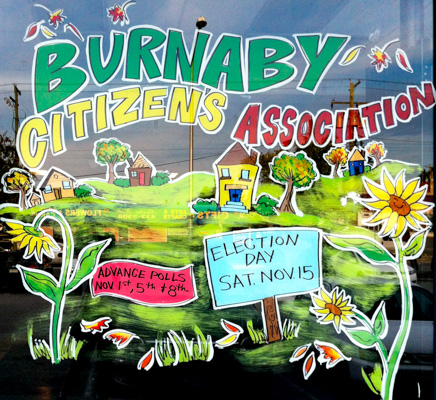 Window Painting for Burnaby Citizens Association, Burnaby