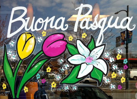 Window Painting for Italia Bakery, Vancouver