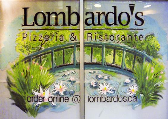 Window Painting for Lombardo's Pizzeria & Ristorante, Vancouver
