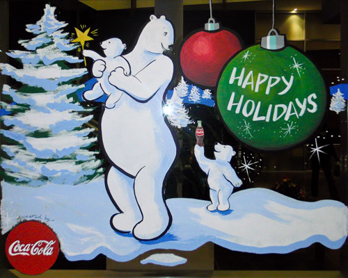 Window Painting for Cascades Casino/Coast Hotel, Langley