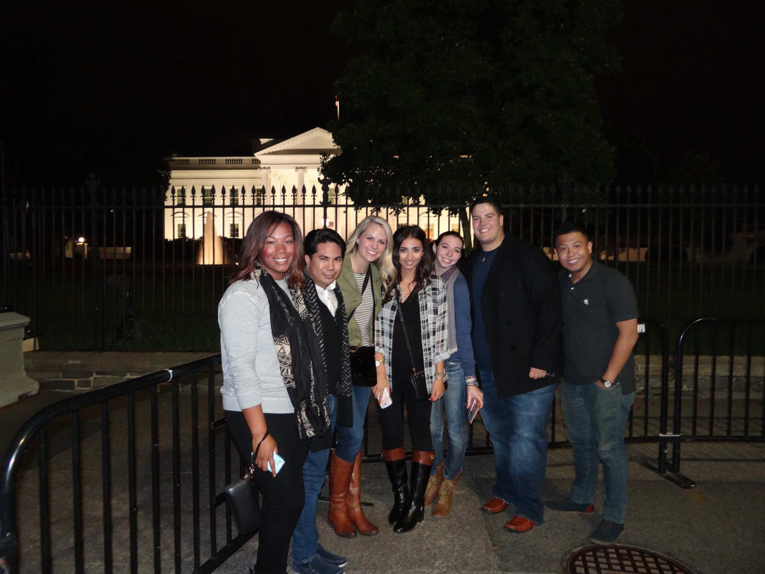 PRSSA members sightseeing at the White House.