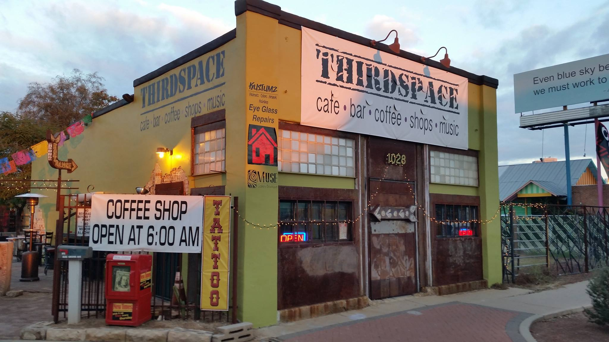 Beer, coffee, tattoos, yes please! Photo courtesy of ThirdSpace
