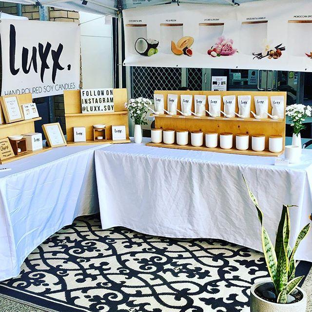 Shelly Beach Markets today!!!!! www.luxxsoy.com.au #Luxx #Luxxsoy #scentedcandles #handpouredcandles #australianmade #supportlocal #shellybeachmarkets