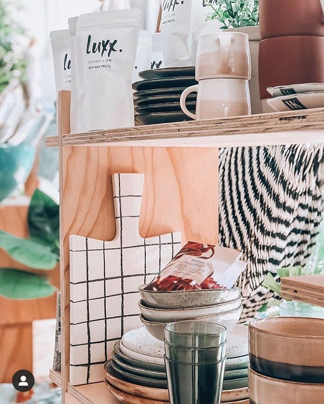 Beautiful homewares including Luxx Soy Wax Melts @_plainjanes available in store or online www.luxxsoy.com.au  #interiordesign #homedecor #homewares #giftideas #luxxsoy #luxxsoycandles #luxxsoywaxmelts #soyscentedcandles #supportlocal #australianmade #autumn #luxx