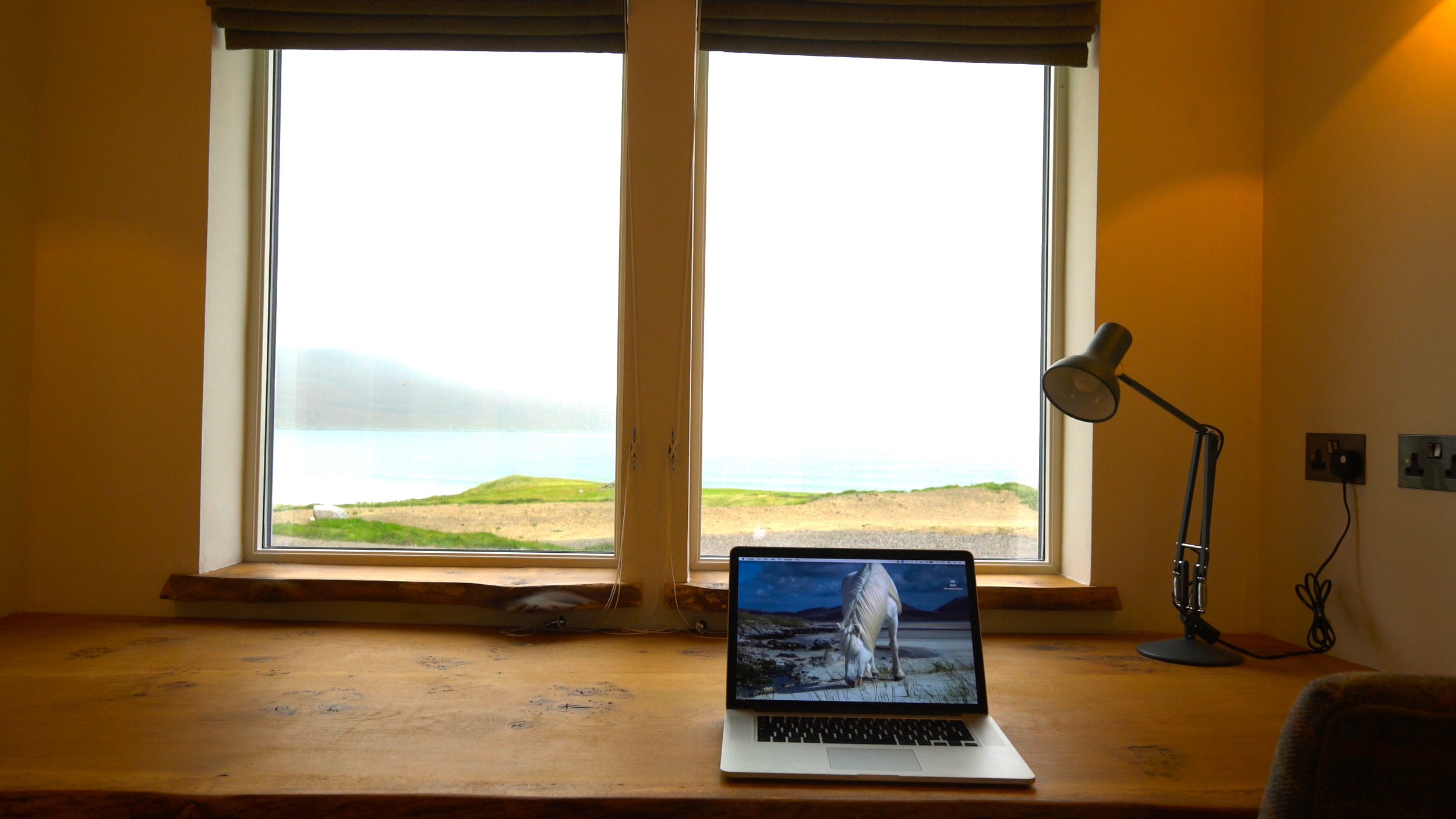 Working here is rather a challenge with the ever-changing view from the study window!