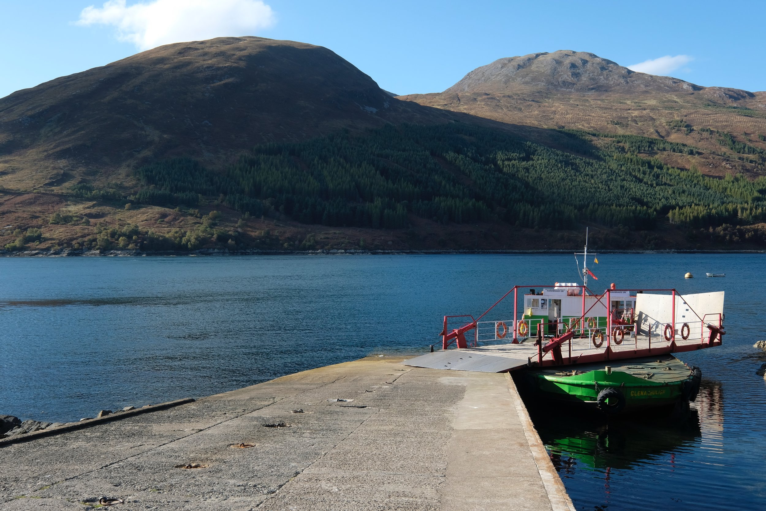 If you drive across to Skye the ferry at Glenelg is a real treat - spectacular scenery and a trip on the world's last rotating car ferry, and the star of many films and TV programmes