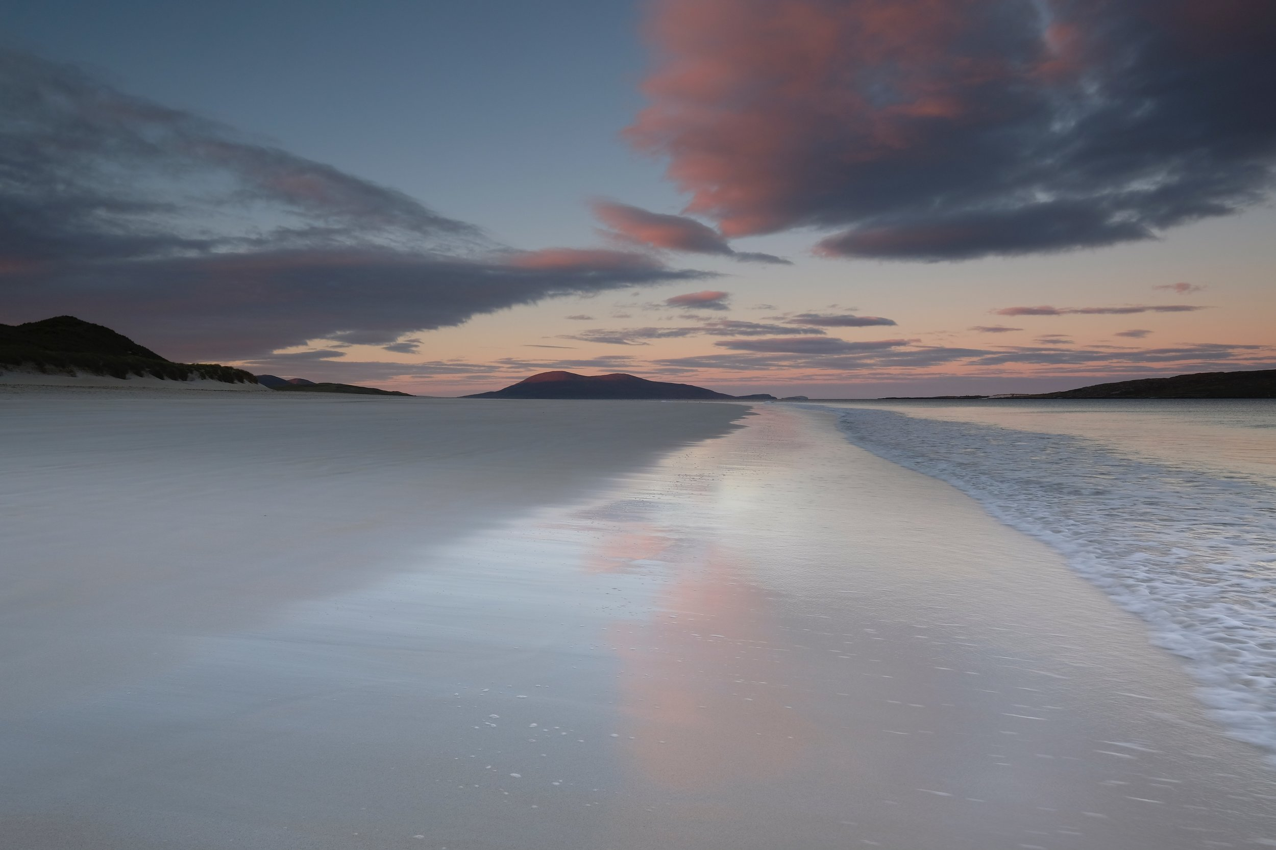 Early morning at Luskentyre looking towards Scarista and Toe Head