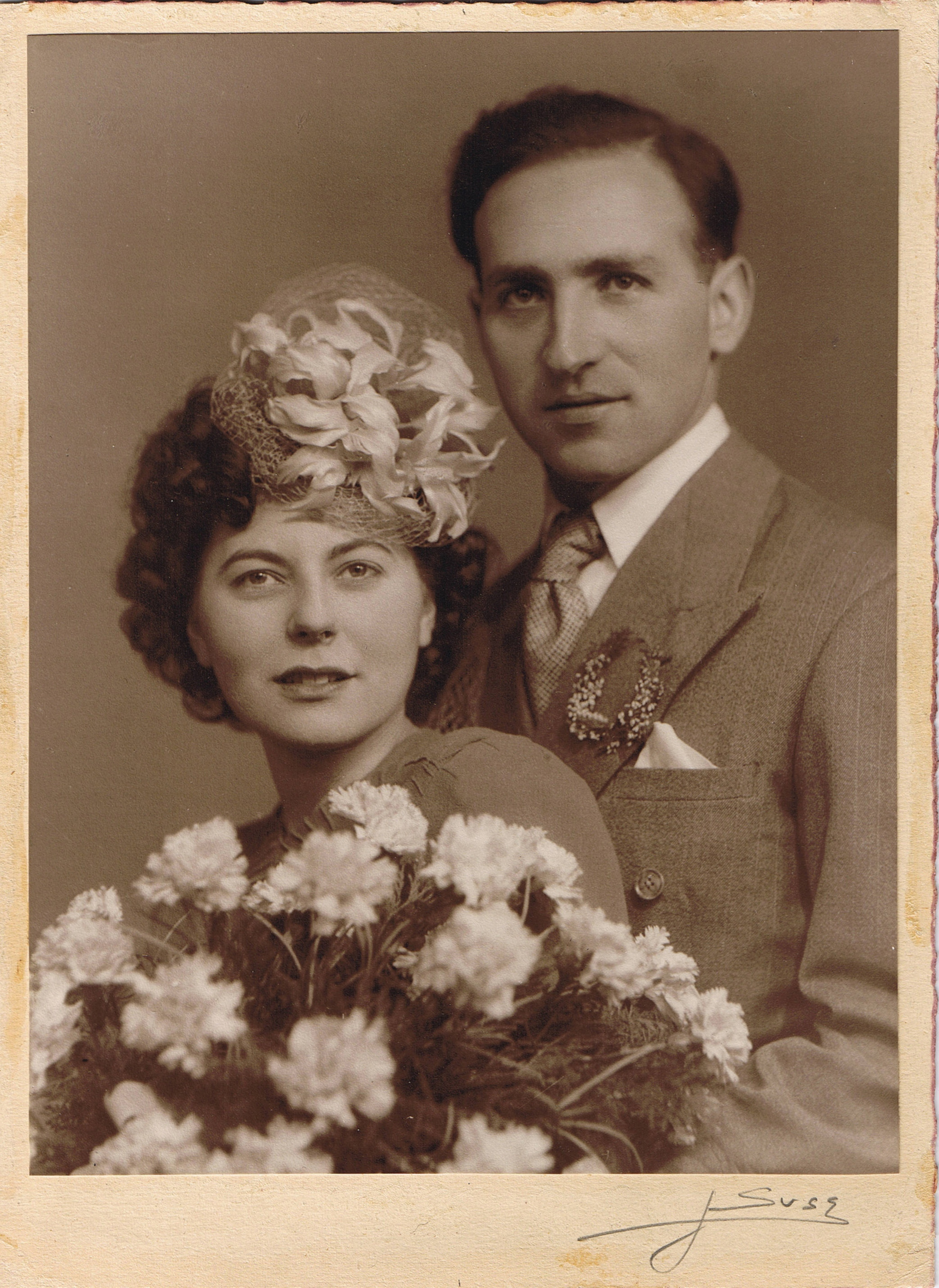 Wedding day, 8 January 1947