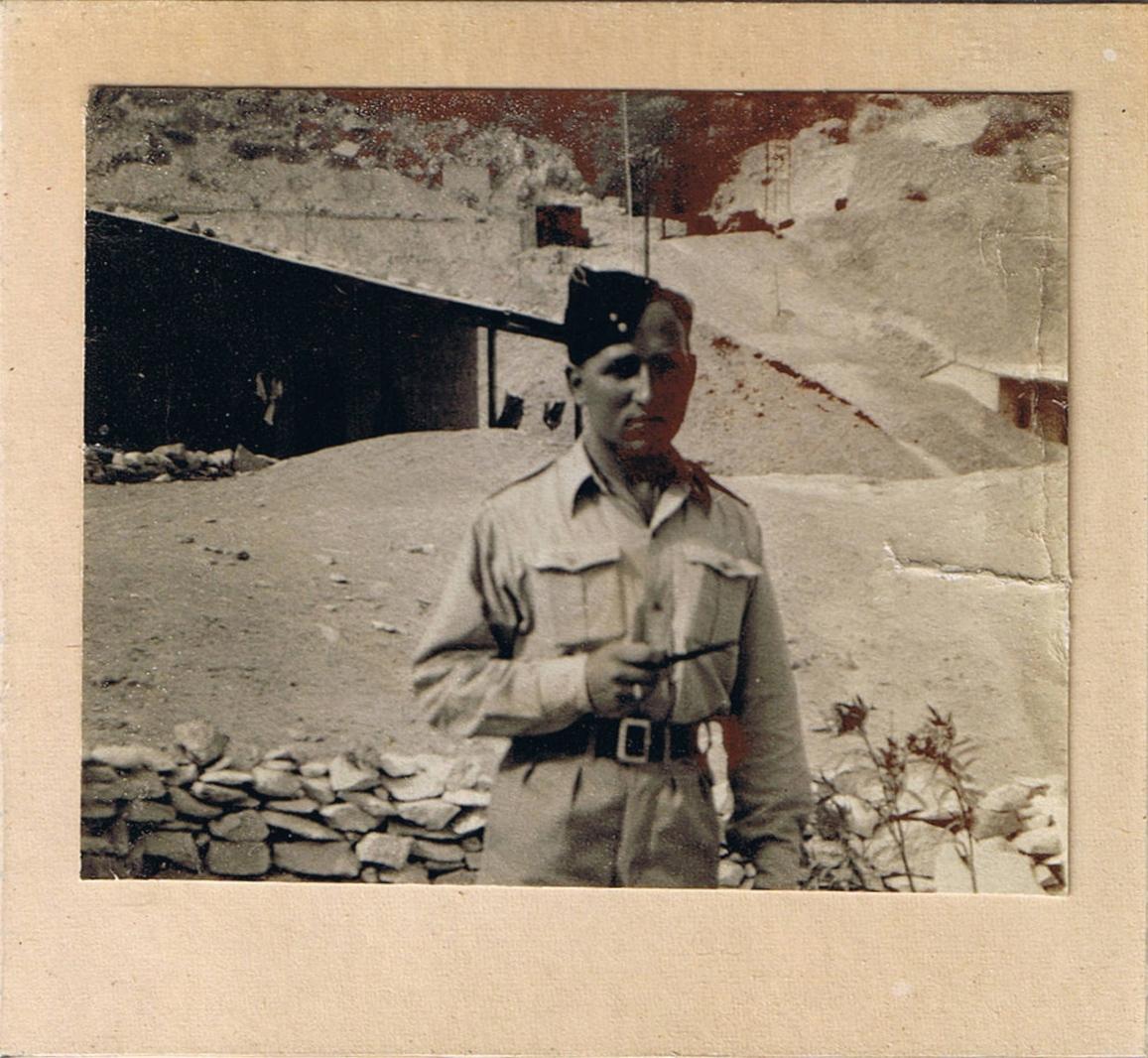 As a Sapper in the 8th Army