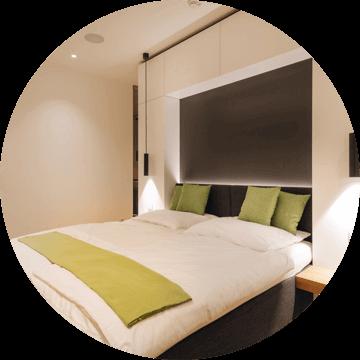 hálószoba - A friss levegő és az optimális hőmérséklet segíti a zavartalan alvást.