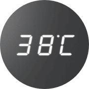 Digitális kijelző - Ami kijelzi az időt, a hőmérsékletet és a sütési időtartamot is.