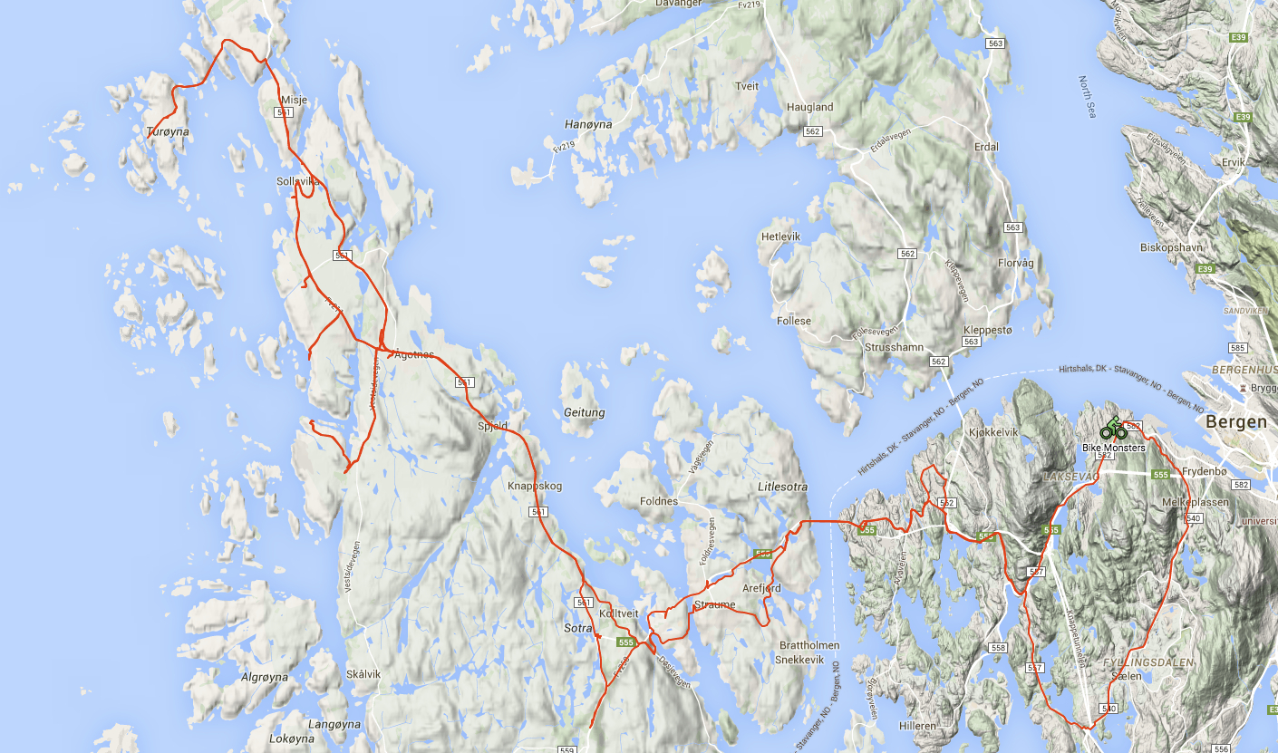 Click on the map to see the animated route