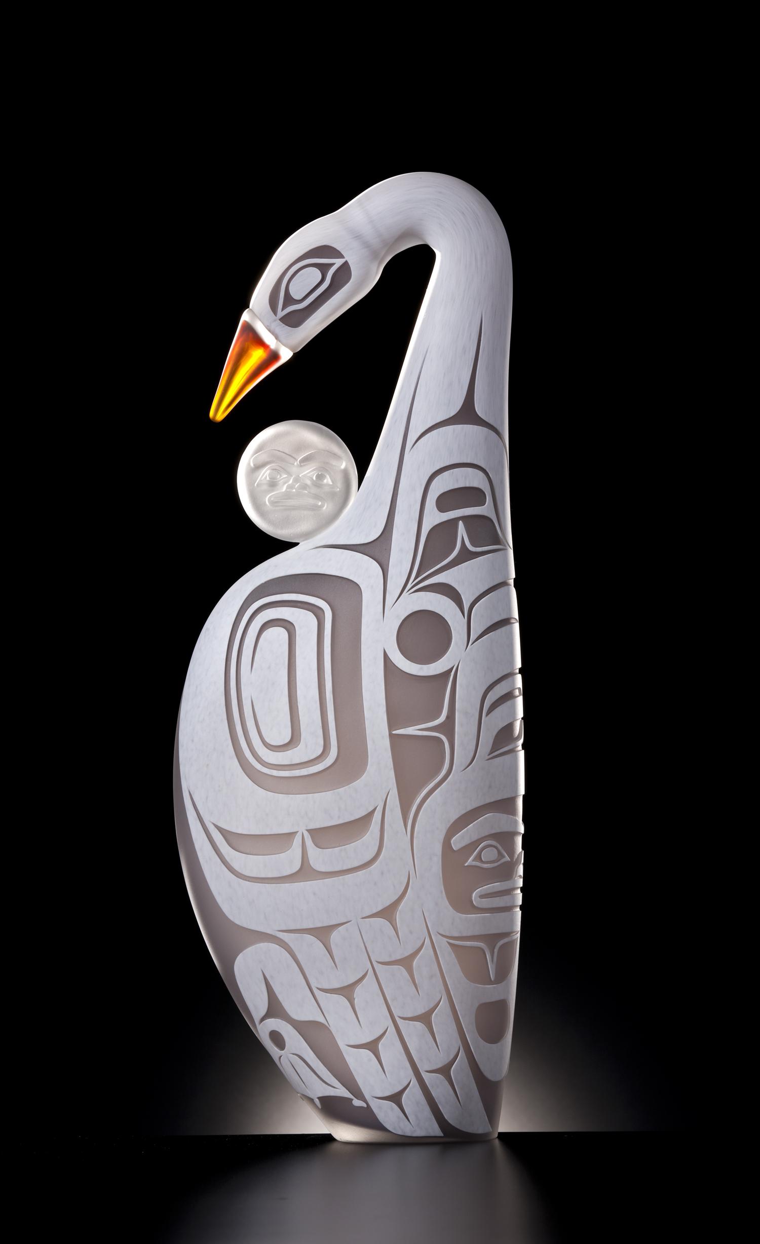 Moonlit Swan