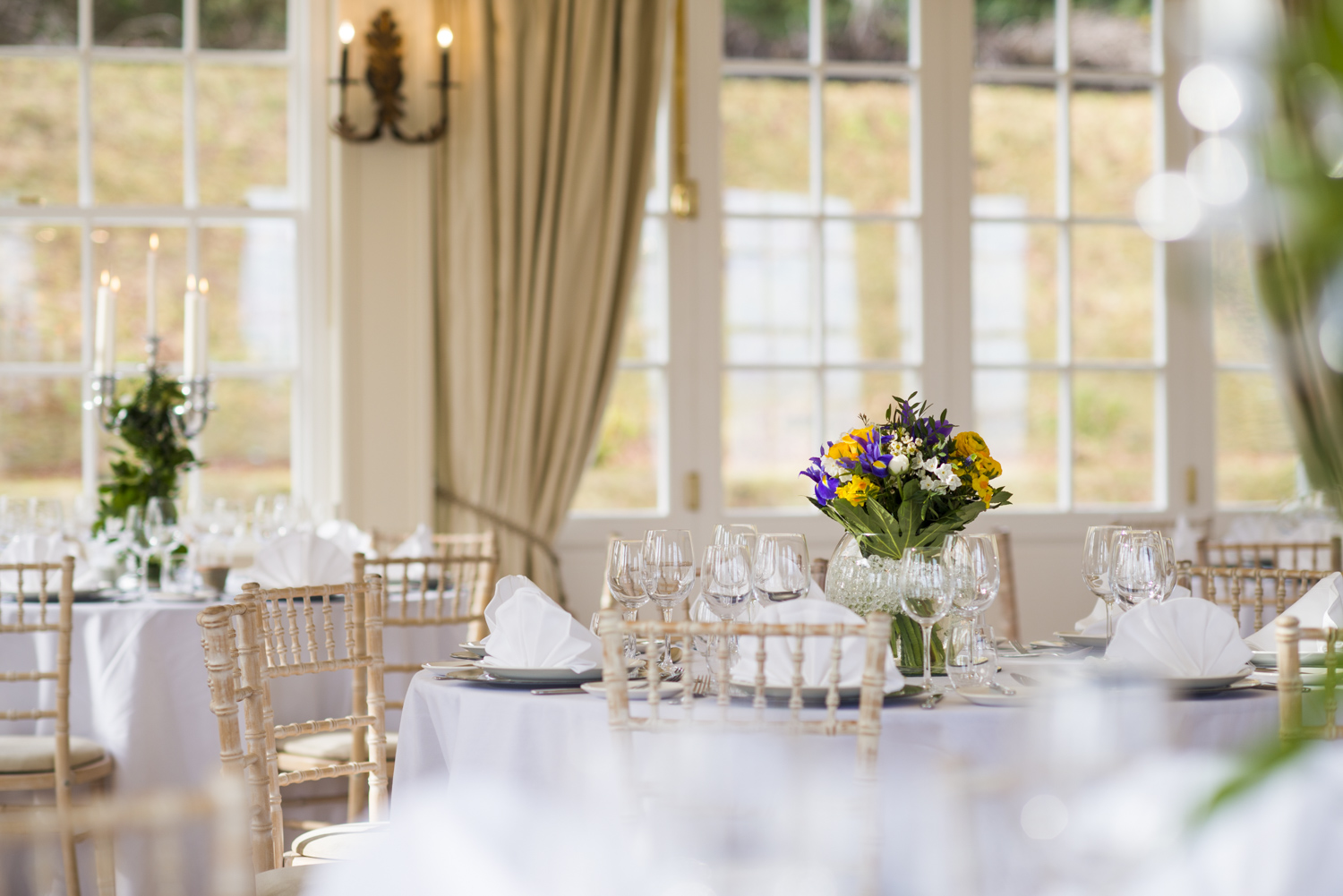 The Orangery set for a wedding