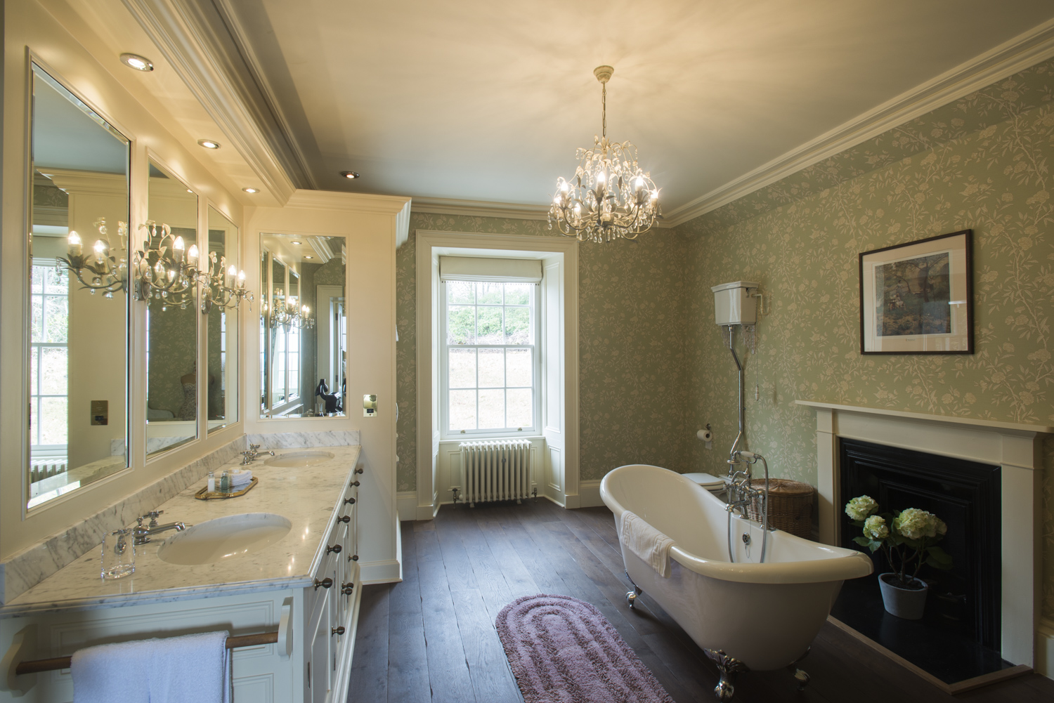 Master ensuite bathroom in the Castle
