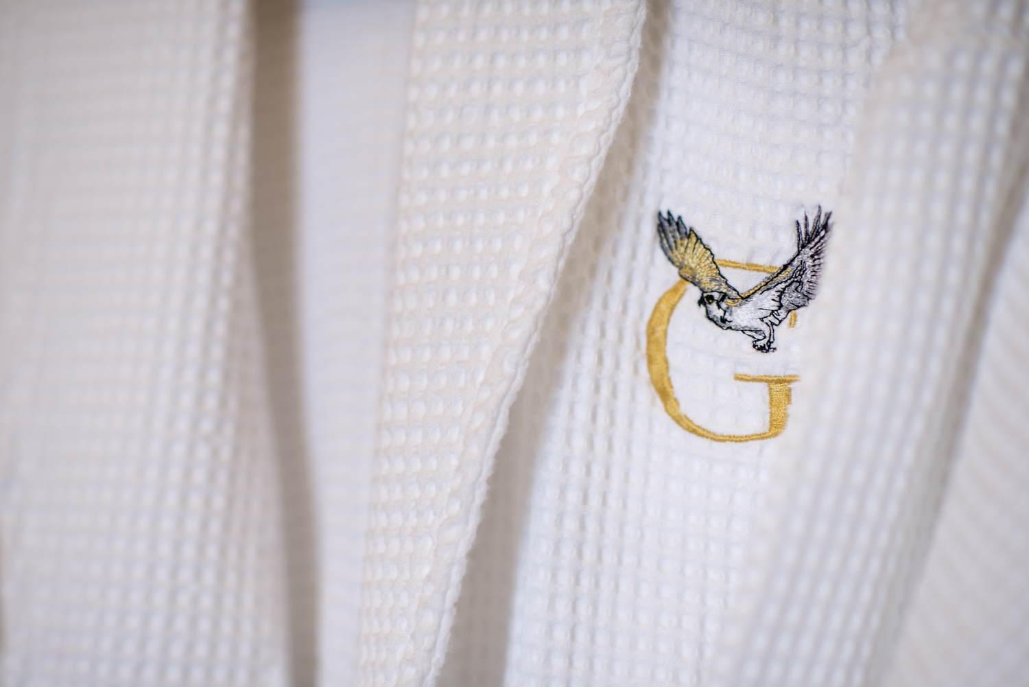 Logo on the gowns