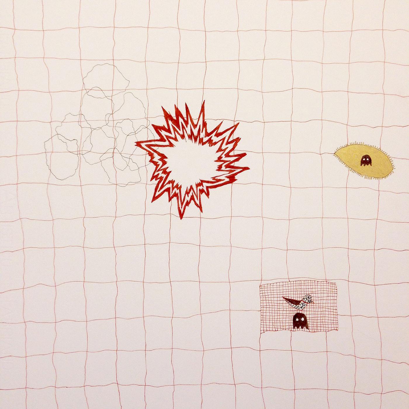 "2014, 20""x18"", ink, oil marker on paper"