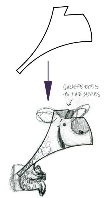 GIRAFFE GOES TO THE MOVIES