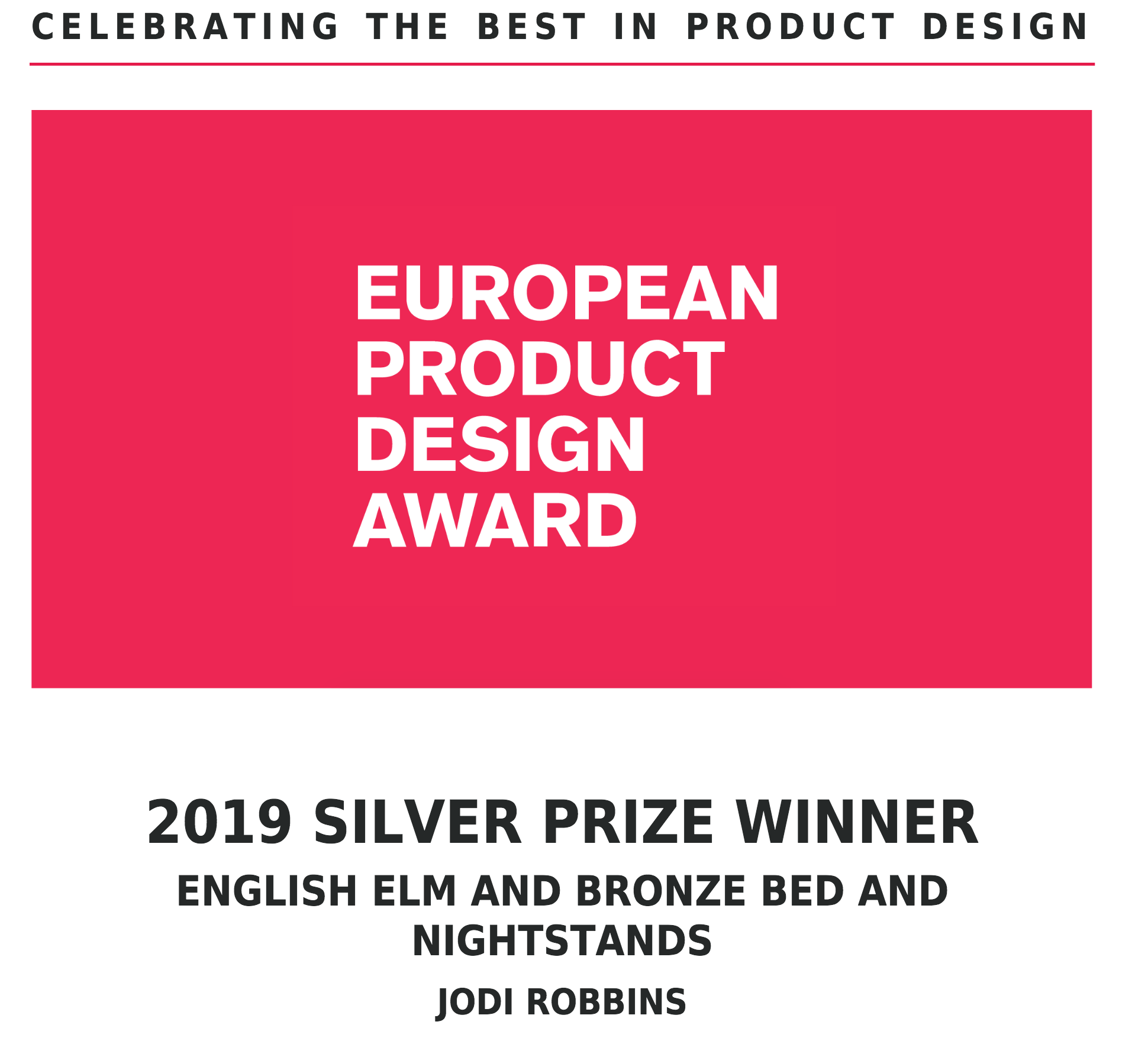 European Product Design Awards 2019