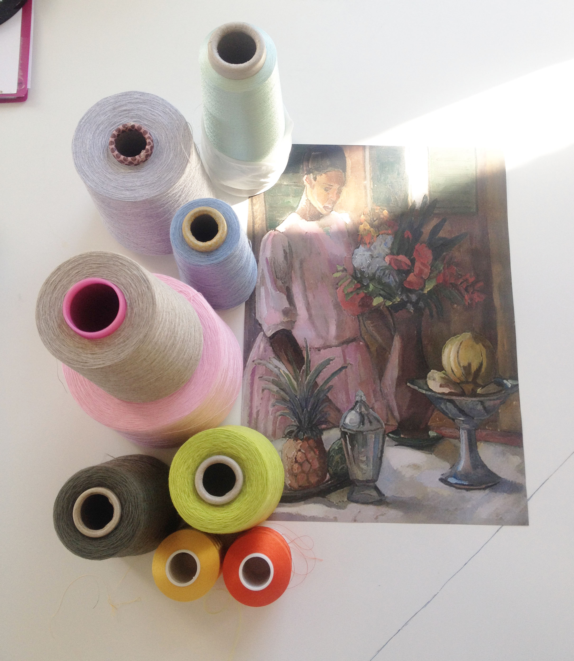 ROSE springer ud i lyset: dette er de valgte farver jeg kommer til at arbejde med.jpg