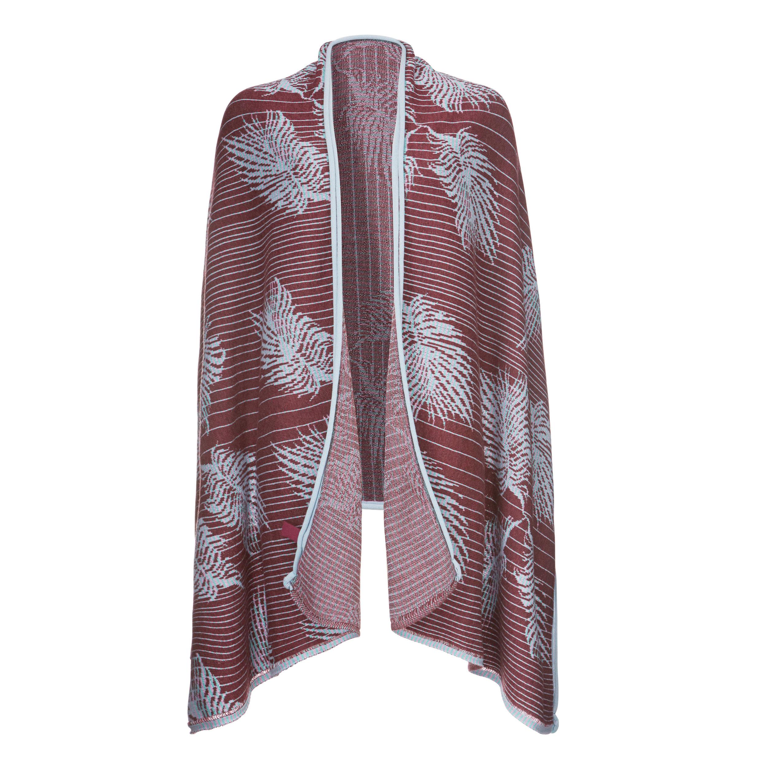 KIMONO SCARF > INHOUSE JACQUARD KNITTED  Vintage pre-digital knitted fabric, Jacquard tech, merino wool