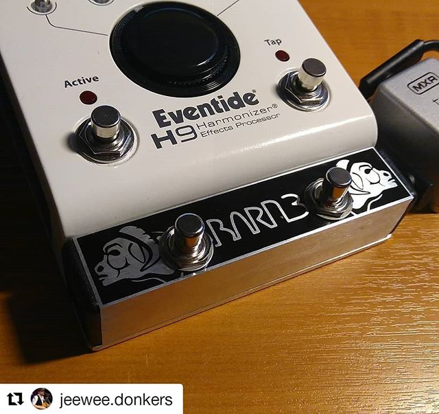 #Repost @jeewee.donkers ・・・ Got myself an early birthday present. What a sublime piece of intelligent craftsmanship! Super switch in a mini housing, and works like a dream. . . . @barn3pedals #OX9 @eventideaudio #H9 #gearnut #guitar #pedal #freak #gearheadsunited #happycamper