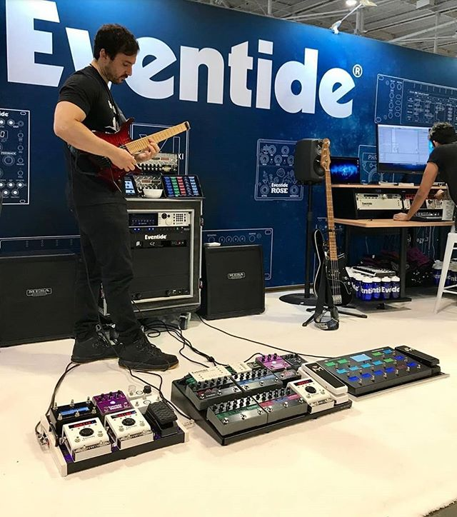 Repost from @joe.cozzi at @thenammshow . If you're at NAMM this year go say hi to Joe and the rest of the gang at the @eventideaudio booth! #eventide #barn3 #namm
