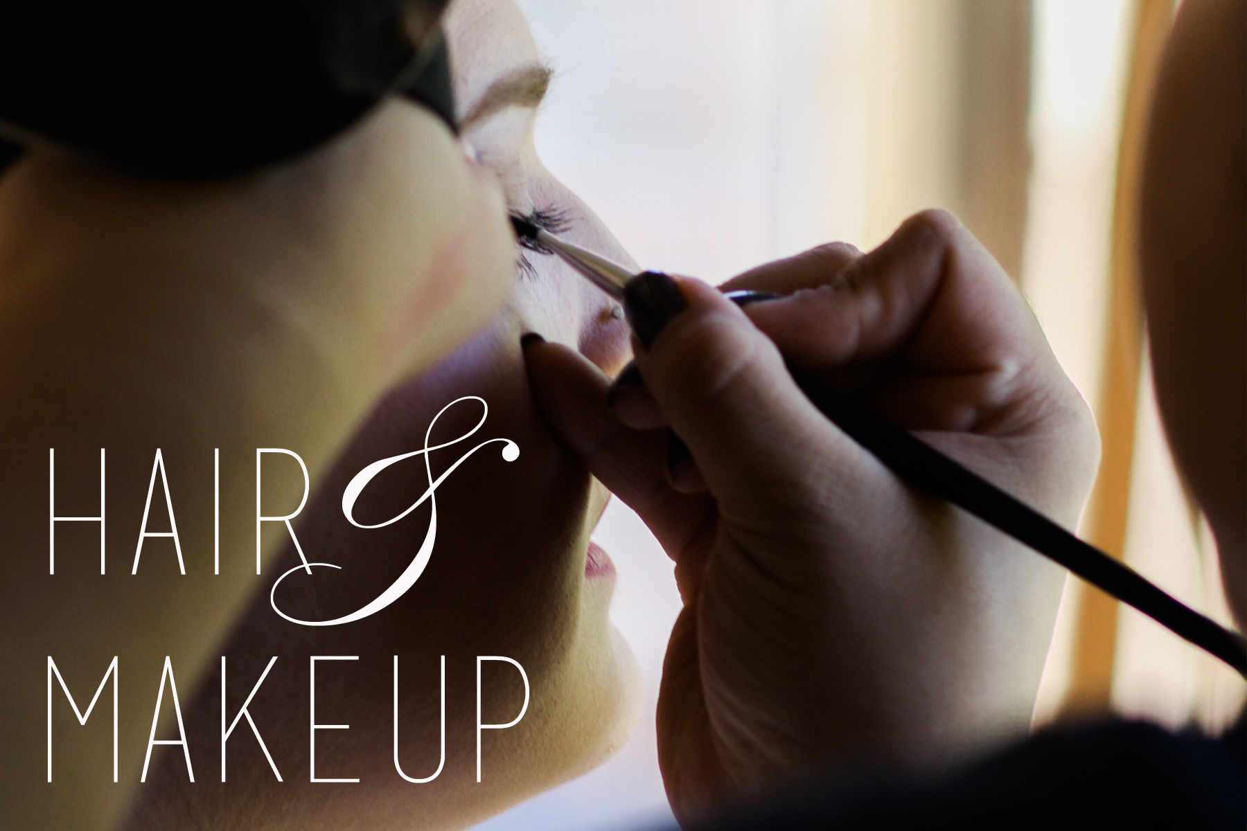 HAIR & MAKE UP - Next, one of our AMAZING hair and make-up artists (we are very selective and assure you you are in the best of hands) will talk about what look you are going for. Then you will be pampered to a total make-over.