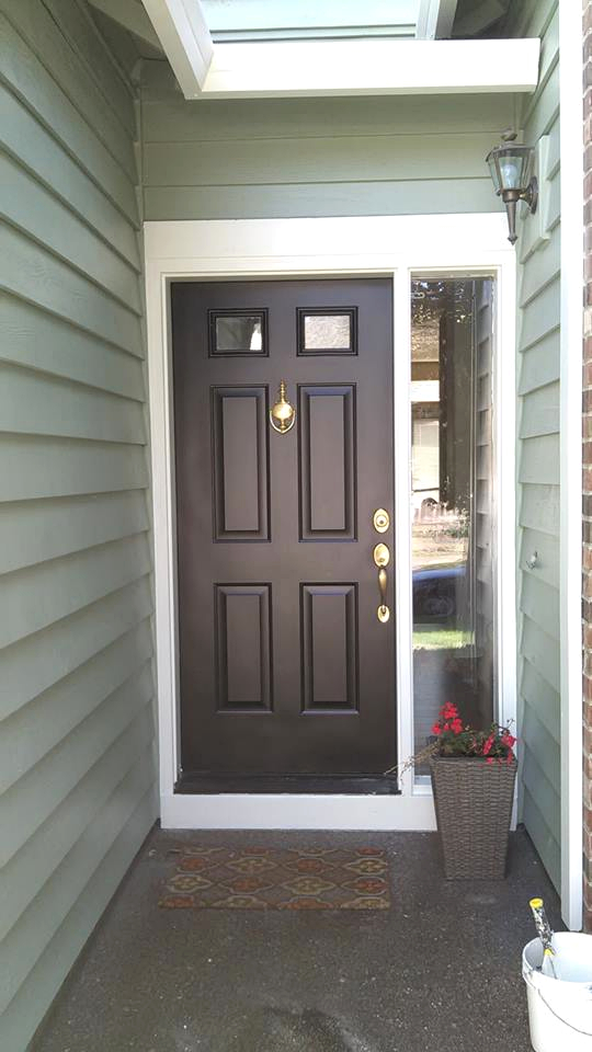 Front Door Re-Stain