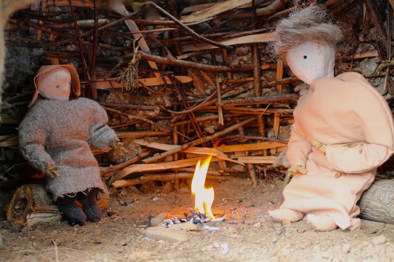A cheerful fire