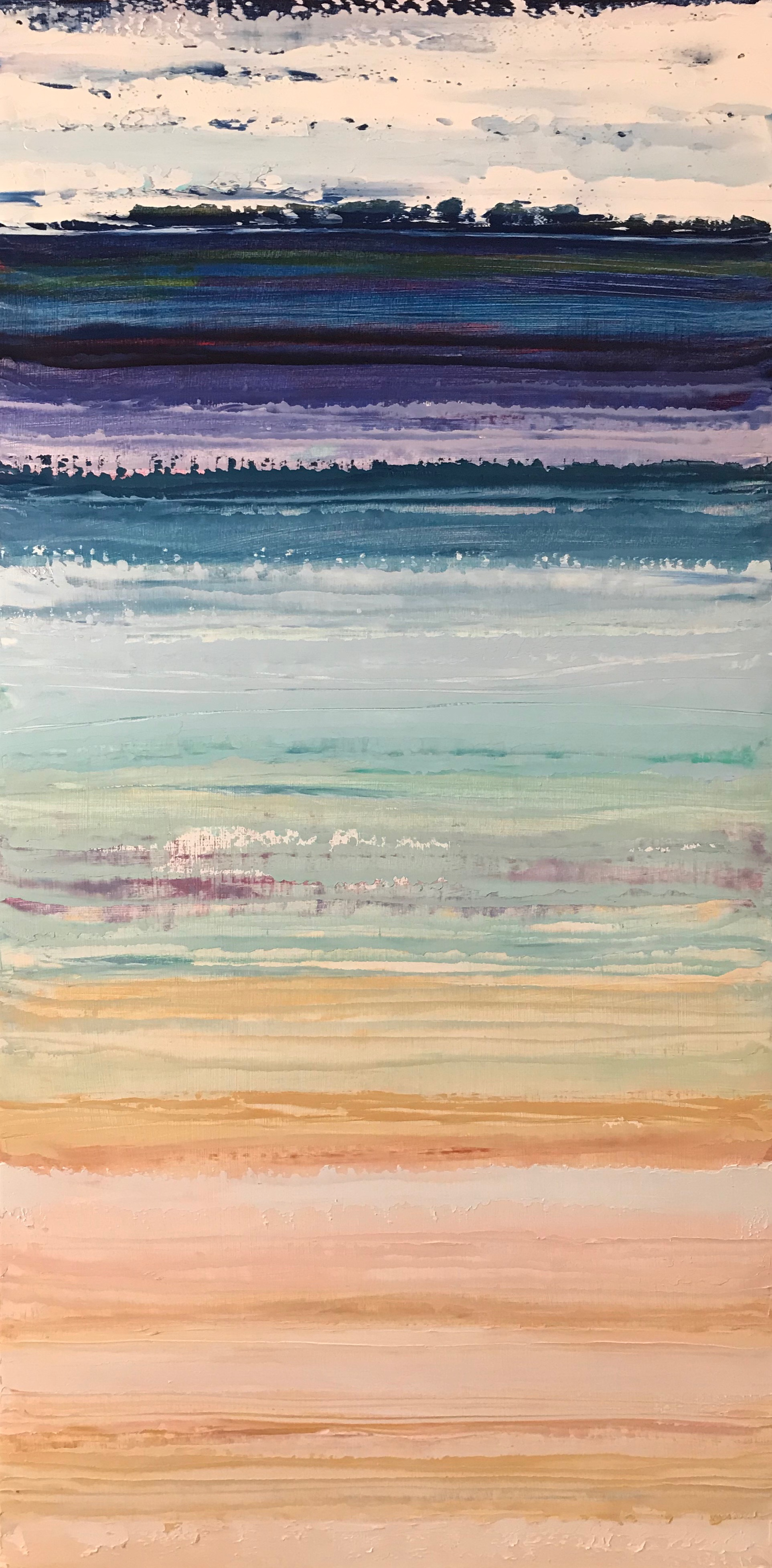 """""""Dreaming of Assateague"""" 24x12 Oil on Wood"""