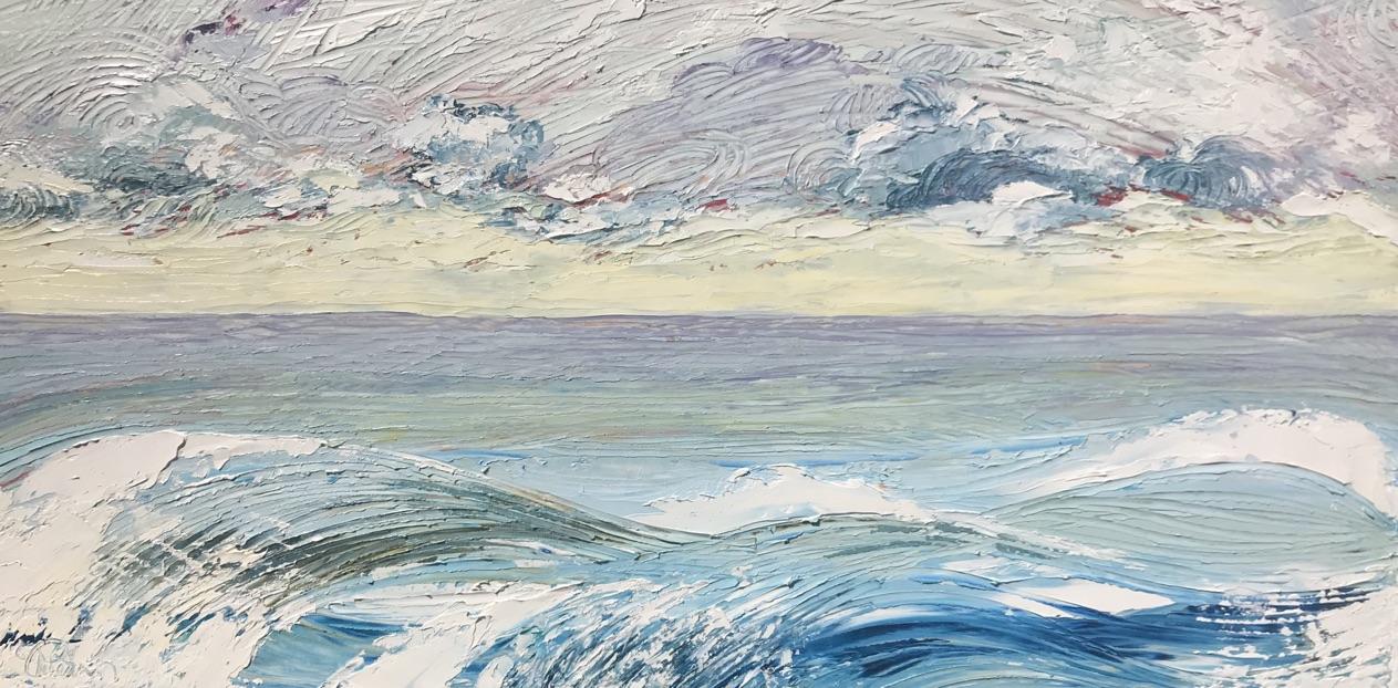 """""""Cloud Break"""" 12x18 inch Oil on Wood"""