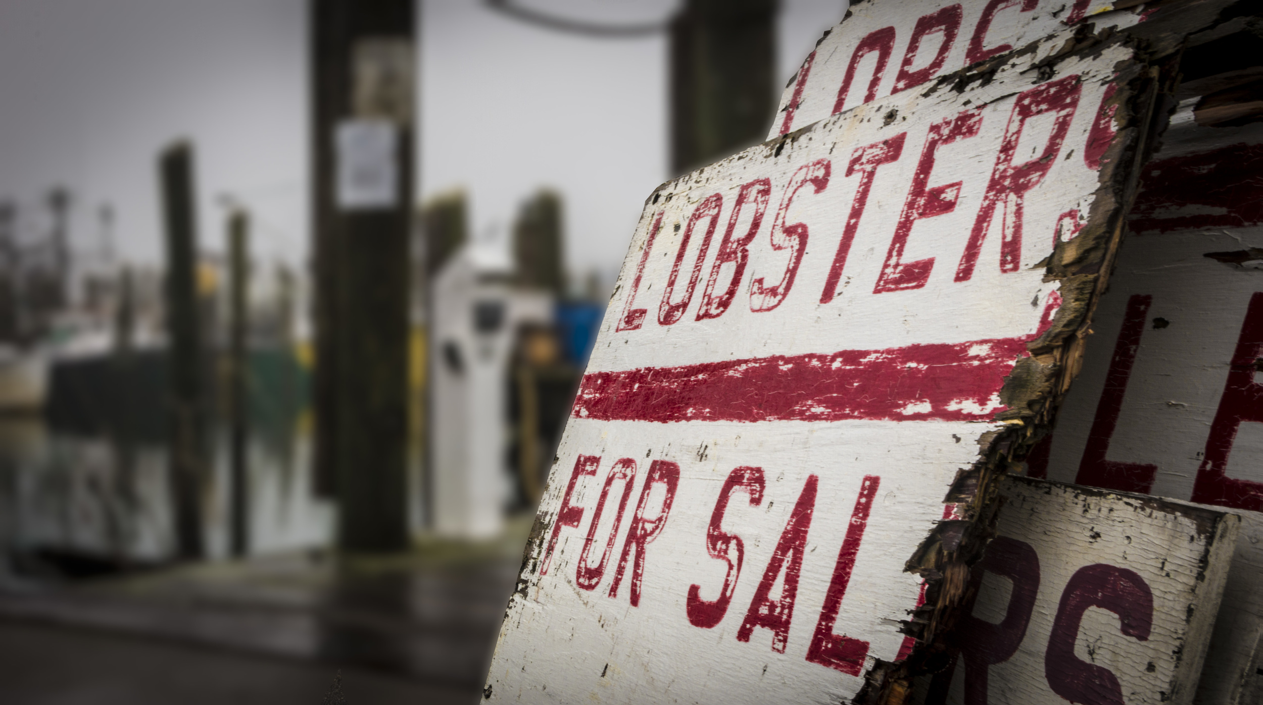 Though tourists no longer flock to the docks of Galilee, R.I., during the foul winter weather, signs advertising lobsters for sale right off the boat remain on display for the few who may venture to the harbor during the cold New England winter.