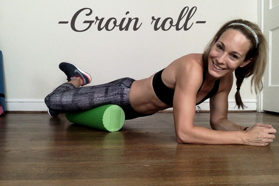 Place a foam roller parallel to your body. Let the inner portion of your thigh rest on the top of the roller. Roll your body until the roller reaches your pelvis. Then roll back and forth.