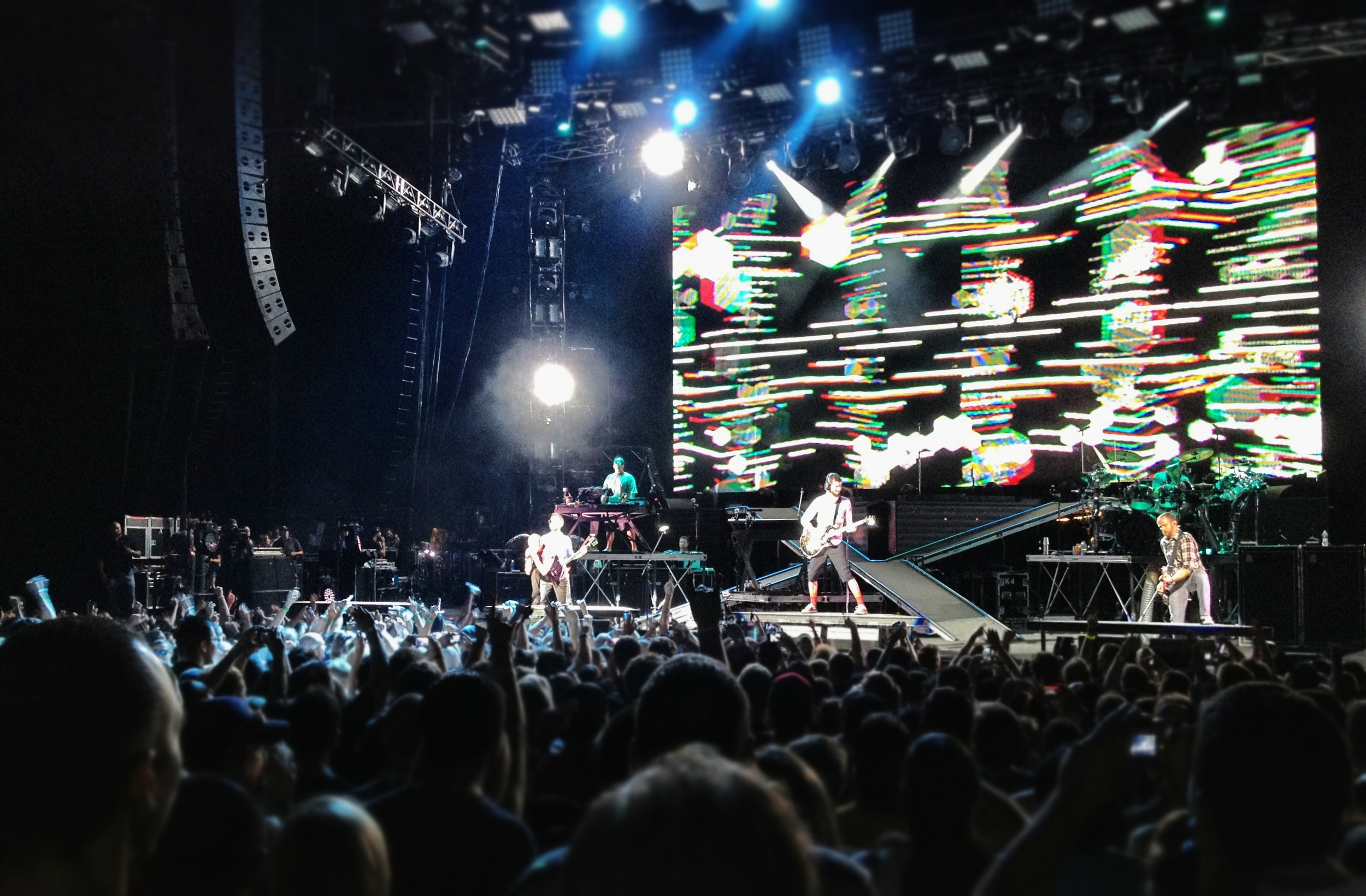 Linkin Park live on stage. [photo credit: Jonathan Pines]