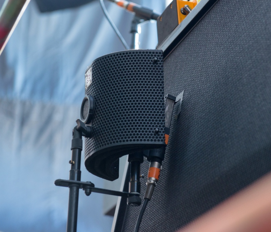 A modified sE IRF2 used by Paramore's FOH engineer Eddie Mapp to help isolate guitar mics.