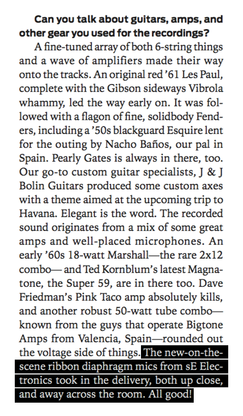 Guitar Player Magazine (p.66, February 2016 issue)