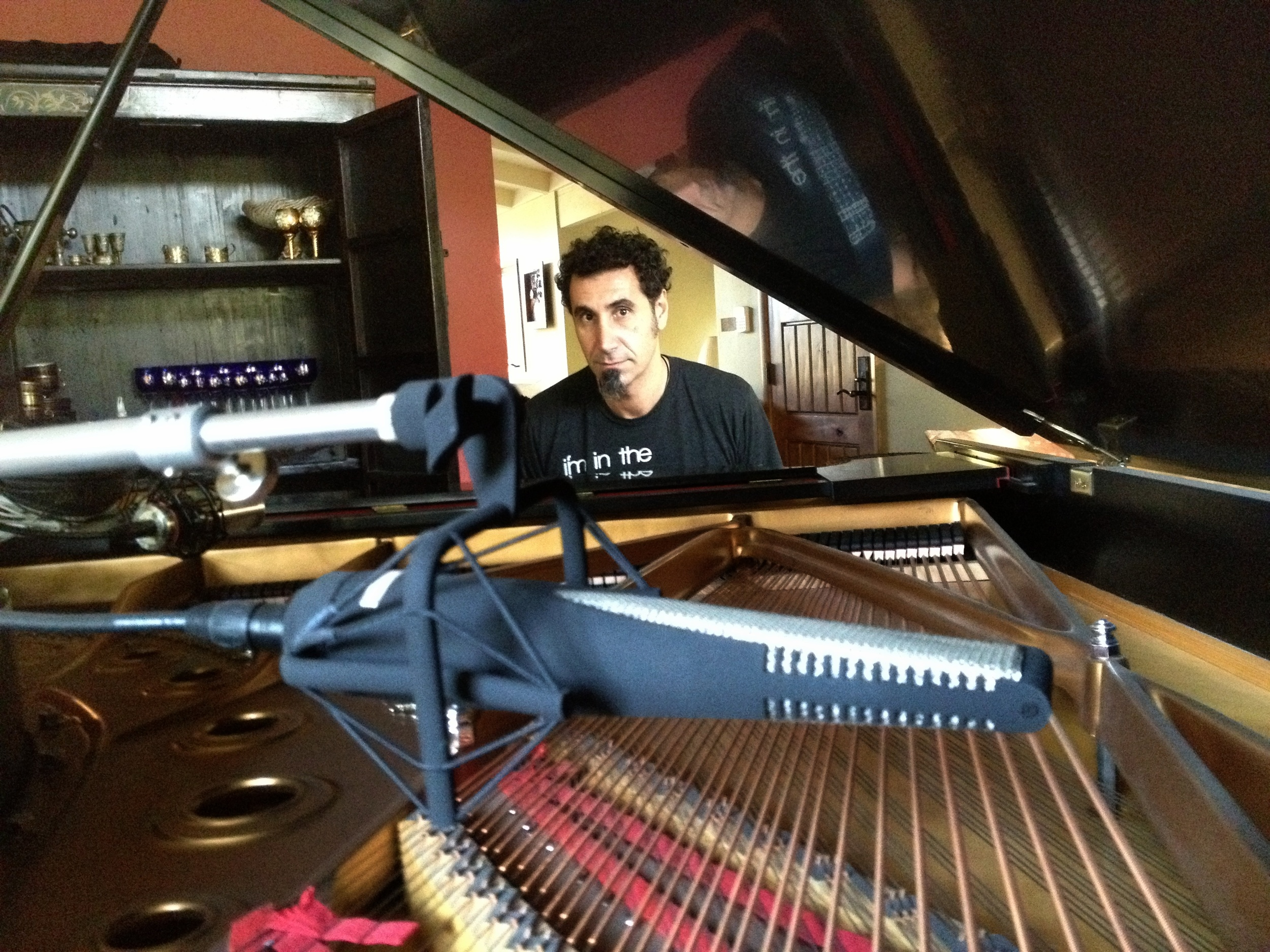 Serj Tankian (System of a Down) with his RNR1 on piano.