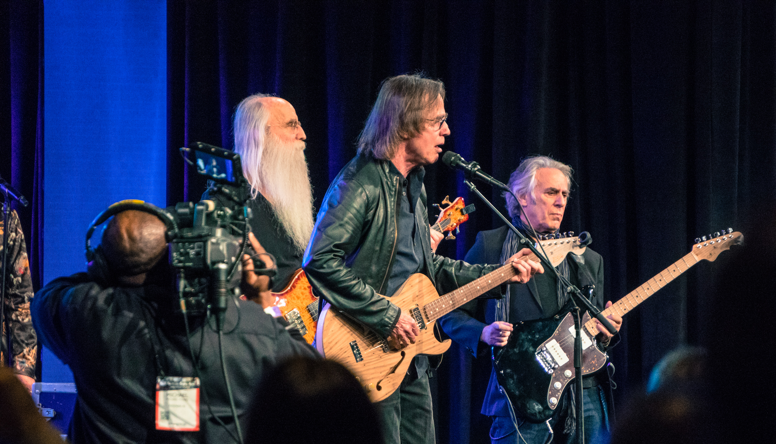One of our personal highlights was getting to see the legendary Jackson Browne and his legendary band (The Section) perform at the TEC Awards on Saturday night.