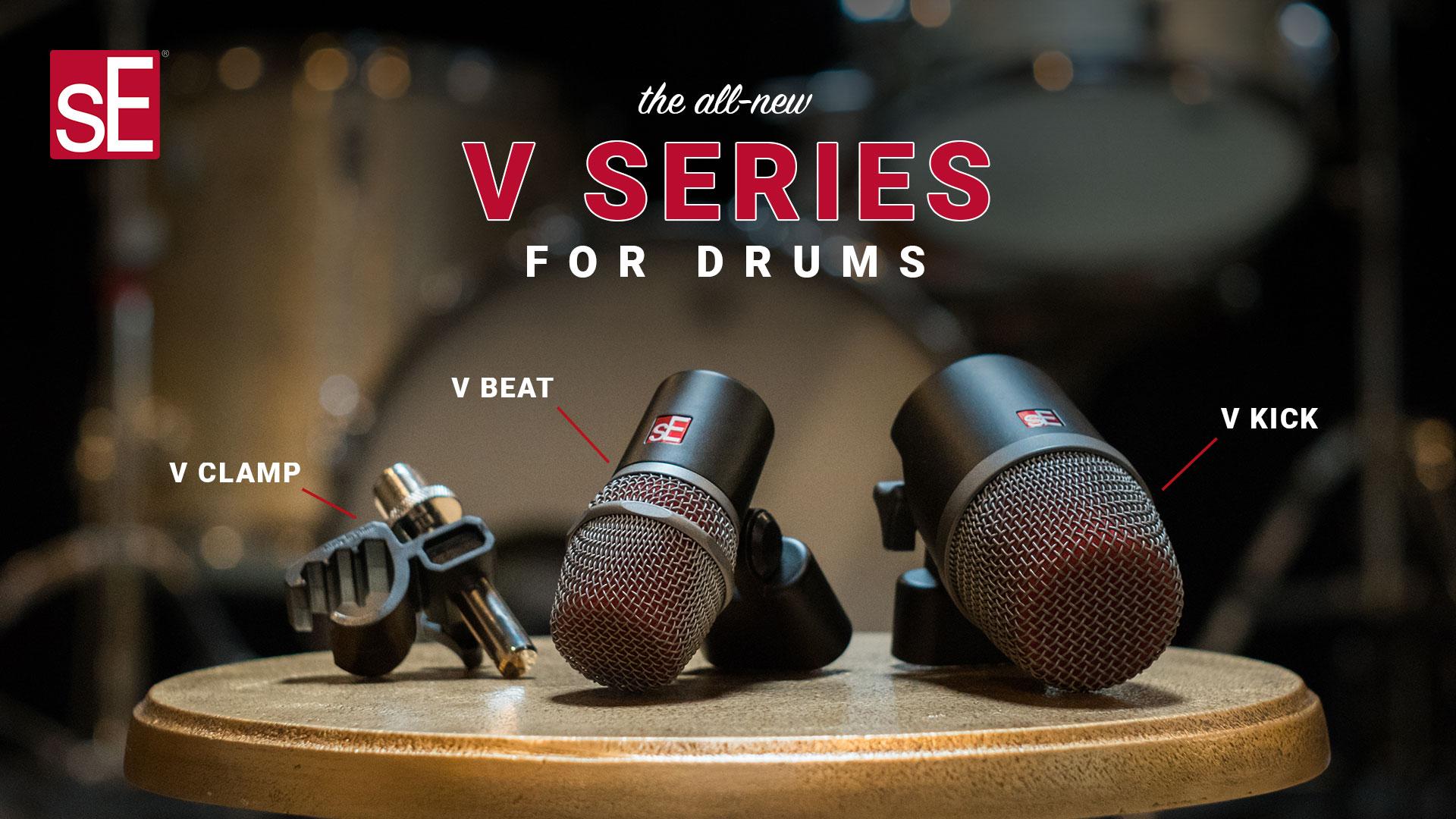 New sE Electronics V Kick Unbeatable Punch /& Impact Kick Drum Microphone