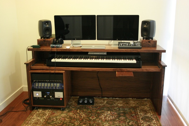 Home recording desk