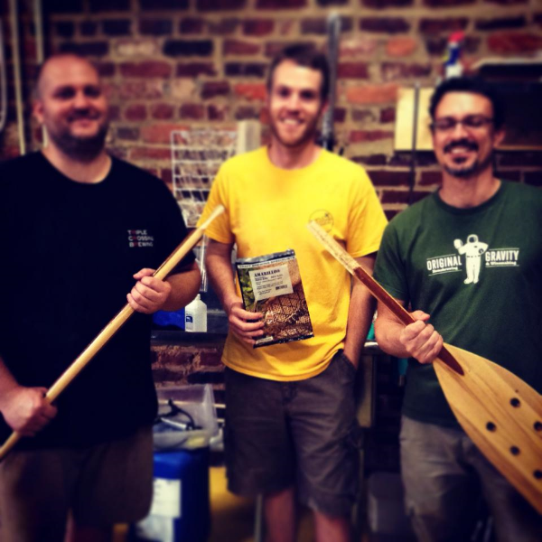 The collaboration for this IPA was so intense that we broke the paddle.