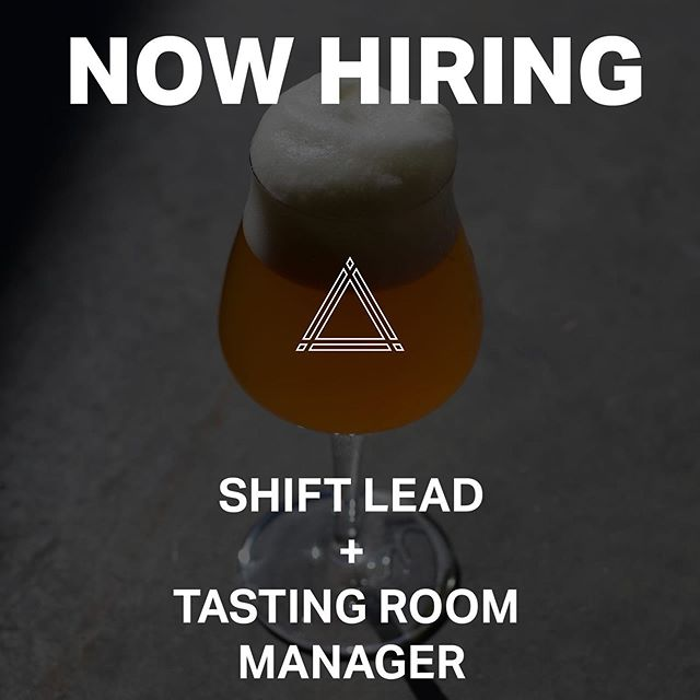 We are Now Hiring for two full time positions at our Fulton Brewpub that will include full benefits! Please send all resumes to info@triplecrossing.com.⁣⁣ ⁣⁣ ⟁ Fulton Shift Lead ⟁⁣⁣ ⁣⁣ - Must be willing to work 40 hours per week, including nights and weekends⁣⁣ - Minimum 1 year of serving/bartending experience required⁣⁣ - Manages servers when tasting room manager is not present⁣⁣ - Assists in training employees⁣⁣ - Point of contact for staff issues or concerns⁣⁣ - Reports to Tasting Room Manager⁣⁣ - Maintains cleanliness of brewpub⁣⁣ - Maintains open communication between kitchen staff⁣⁣ - Attends weekly meetings with management and owners⁣⁣ - Assists in management of customer issues⁣⁣ - Health benefits and 401k with company matching available⁣⁣ ⁣⁣ ⟁ Fulton Tasting Room Manager ⟁⁣⁣ ⁣⁣ - Must be willing to work 40 hours per week, including nights and weekends⁣⁣ - Minimum 1 year of management and restaurant/tasting room experience required⁣⁣ - Manages brewpub staff⁣⁣ - Responsible for employee training⁣⁣ - Primary point of contact for staff issues or concerns⁣⁣ - Reports to management⁣⁣ - Responsible for cleanliness of brewpub⁣⁣ - Responsible for making daily checklists and monthly deep cleans⁣⁣ - Maintains and fosters open and effective communication with kitchen staff⁣⁣ - Attends weekly meetings with management and owners⁣⁣ - Manages and resolves customer conflicts and issues as needed⁣⁣ - Manages inventory of kegs, crowlers, glassware and merchandise⁣⁣ - Holds monthly meetings with brewpub and kitchen staff⁣⁣ - Plays a lead role in all in house events and outside events as needed⁣⁣ - Assists with operations for Downtown location as needed⁣⁣ - Health benefits, 401k with company matching and vacation available